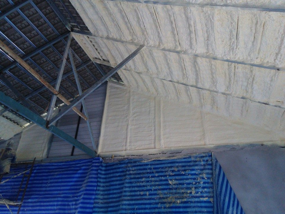 Interior roof insulation
